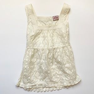 Juicy Couture Baby Doll Embroidered Pattern Top